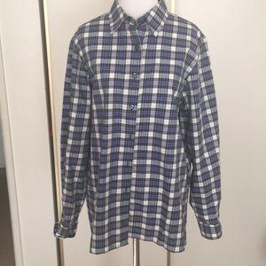 Foxcroft plaid multi colored button down shirt